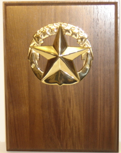 "4"" Solid Brass Command at Sea Badge. Can also be used inside shadow boxes"