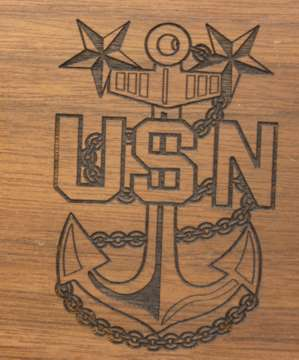 Master Chief Desk Laser Engraved Anchor
