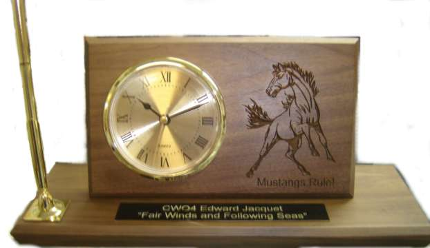 Mustang Laser Engraved Desk Set